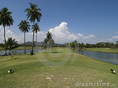 Fairway do furo do golfe da paridade 4