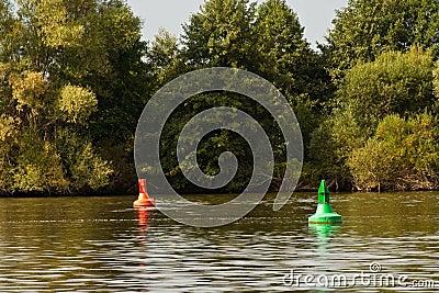 Fairway in a river