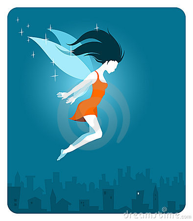 Fairy above the city