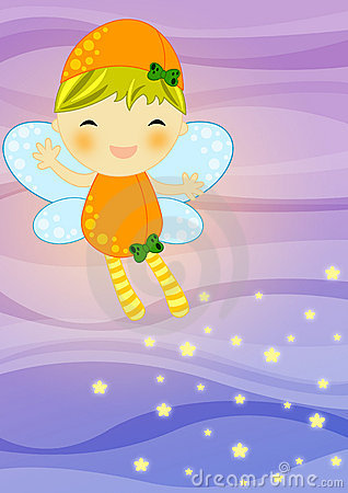Fairy on abstract background