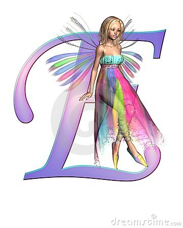 Fairy Alphabet - letter E