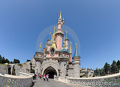 The fairy Castle -Disneyland Paris Editorial Photo