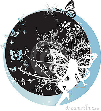 Fairy che si siede sulla mezzaluna
