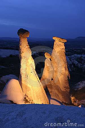 Free Fairy Chimneys In Cappadocia Royalty Free Stock Images - 6183639