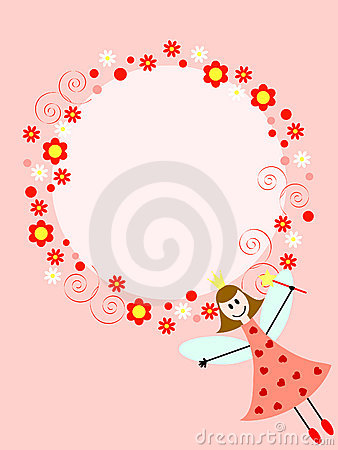 Fairy cor-de-rosa no círculo