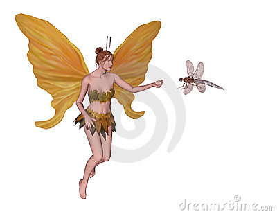 Fairy with dragonfly