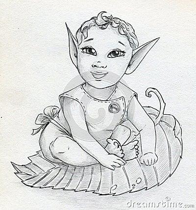 Fairy elf baby