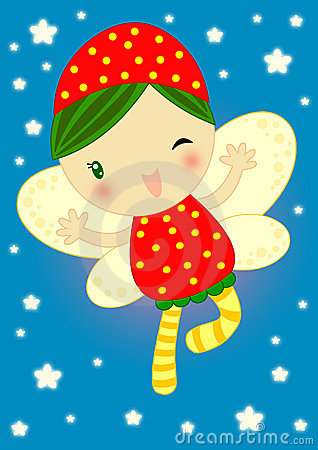 Fairy firefly happy red