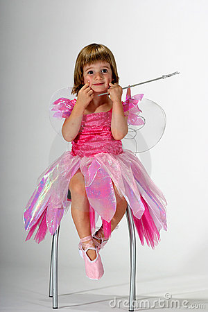 Free Fairy Girl Making Funny Face Royalty Free Stock Photo - 1253775