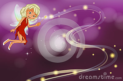 A fairy holding a sparkling wand