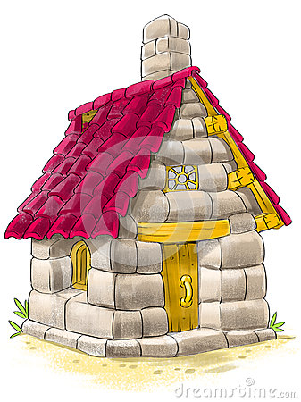 Free Fairy House From Three Little Pigs Fairy Tale Royalty Free Stock Photos - 40162298