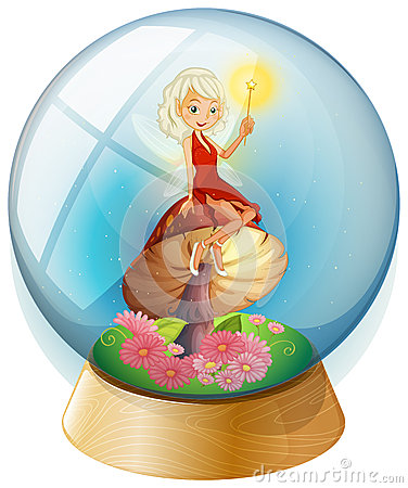 A fairy inside a crystal ball