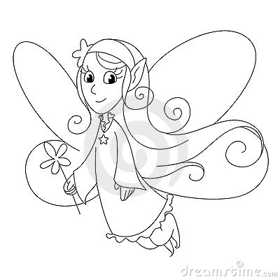 Fairy lady - b&w