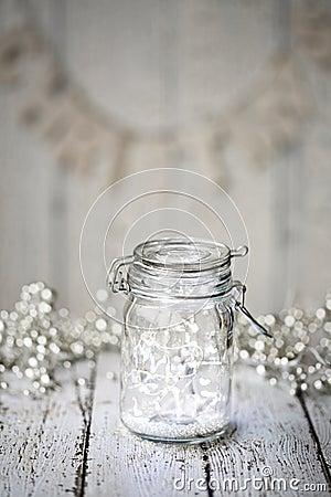 Free Fairy Lights In A Jar Stock Photos - 46150843