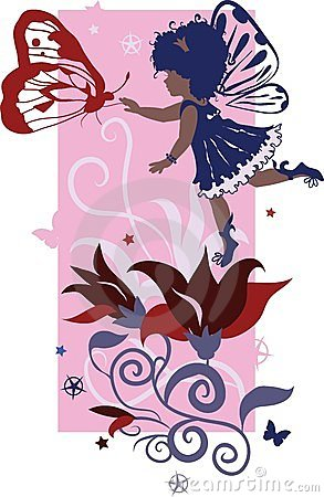 Fairy Little Girl Silhouette