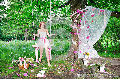 Fairy in the magic forest