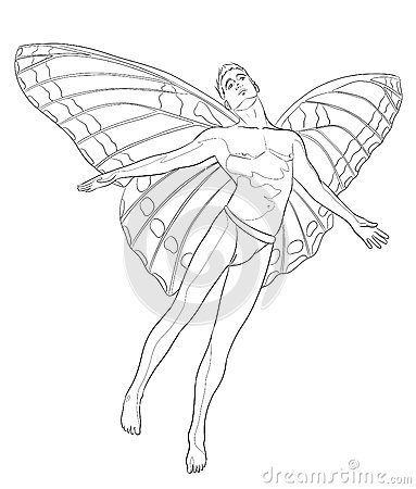 Fairy man coloring page