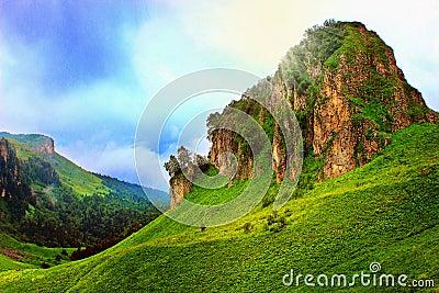 Fairy mountains landscape
