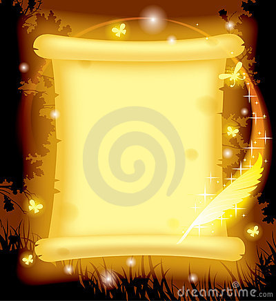 Free Fairy Parchment And Magic Pen Royalty Free Stock Images - 22568929