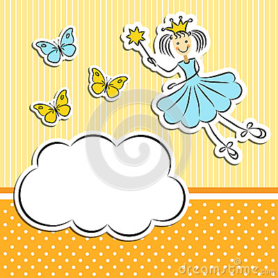 Fairy princess with butterflies