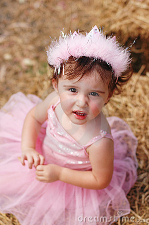 Free Fairy Princess Looking Up Stock Photography - 6216272