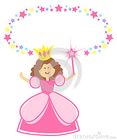 Fairy Princess with Star Border/eps