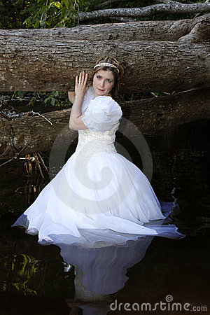 Fairy princess in water