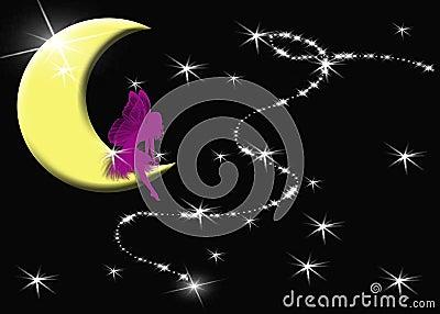 Fairy que deseja em uma estrela!