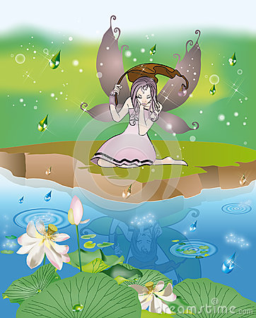 Fairy in the rain