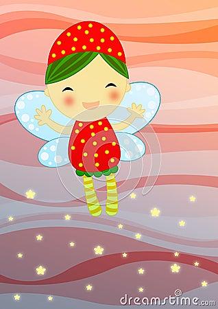 Fairy rosso su priorità bassa astratta
