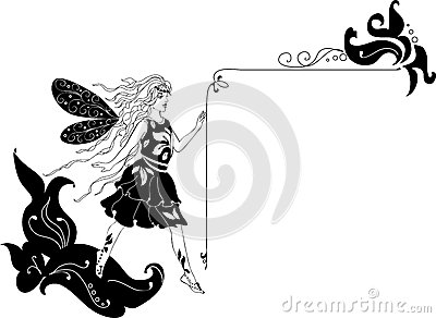 Fairy Silhouette Corner