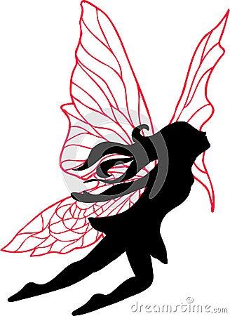 Fairy Silhouette Illustration