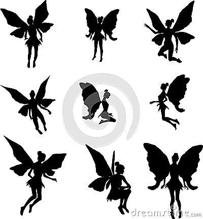 Free Fairy Silhouettes Stock Photo - 8477620
