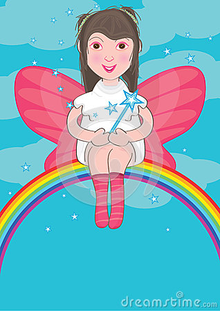 Fairy Sit At Rainbow_eps