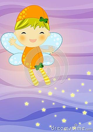 Fairy su priorità bassa astratta