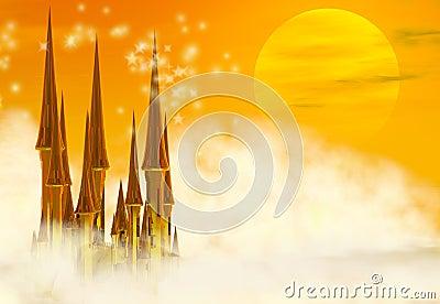 Fairy tale fantasy Castle