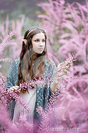 Free Fairy Tale Girl. Portrai Of Mystic Elf Woman. Royalty Free Stock Photo - 95104045