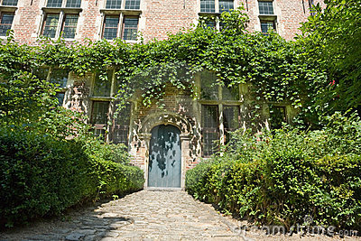 Fairy tale medieval house entry