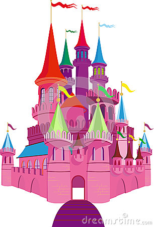 Fairy-tale Pink Castle Stock Photos - Image: 26477423