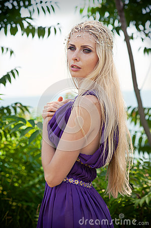 Fairy-tale - portrait of woman in purple