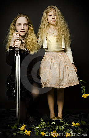 Free Fairy Tale - Princess And The Warrior Stock Photo - 19509800