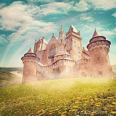 Free Fairy Tale Princess Castle Royalty Free Stock Photo - 24586555