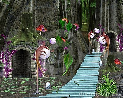 Fairy tale series - fantasy forest and fairy house