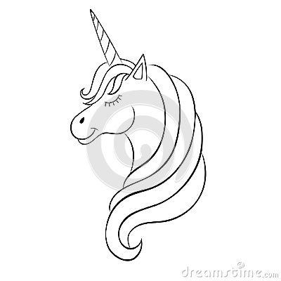 Free Fairy-tale Unicorn, Sketch For Coloring Book, Fantasy Concept. Royalty Free Stock Image - 109145666