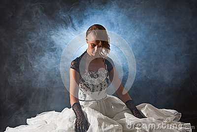 Fairy tale woman in the smoke