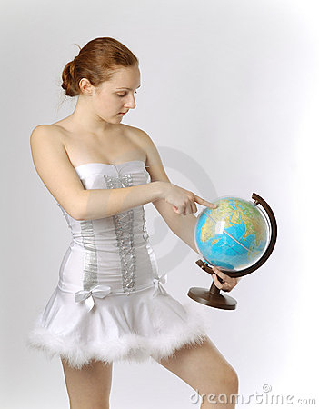 Fairy with terrestrial globe