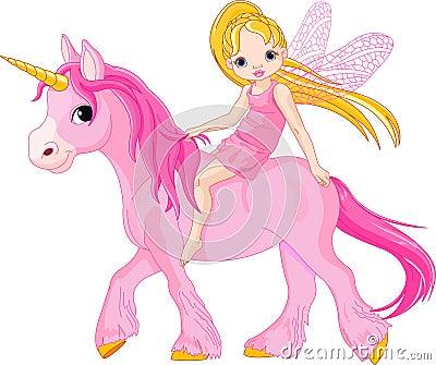 Fairy on unicorn