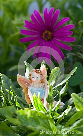 Fairy on vegetation