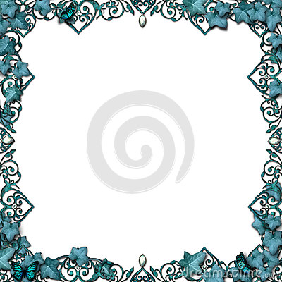 Free Fairytale Border Vines Flourish Isolated Royalty Free Stock Photos - 25883248