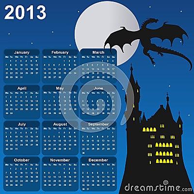 Fairytale calendar for 2013